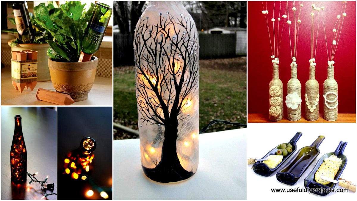26 highly creative wine bottle diy projects to pursue for How to make wine bottle crafts