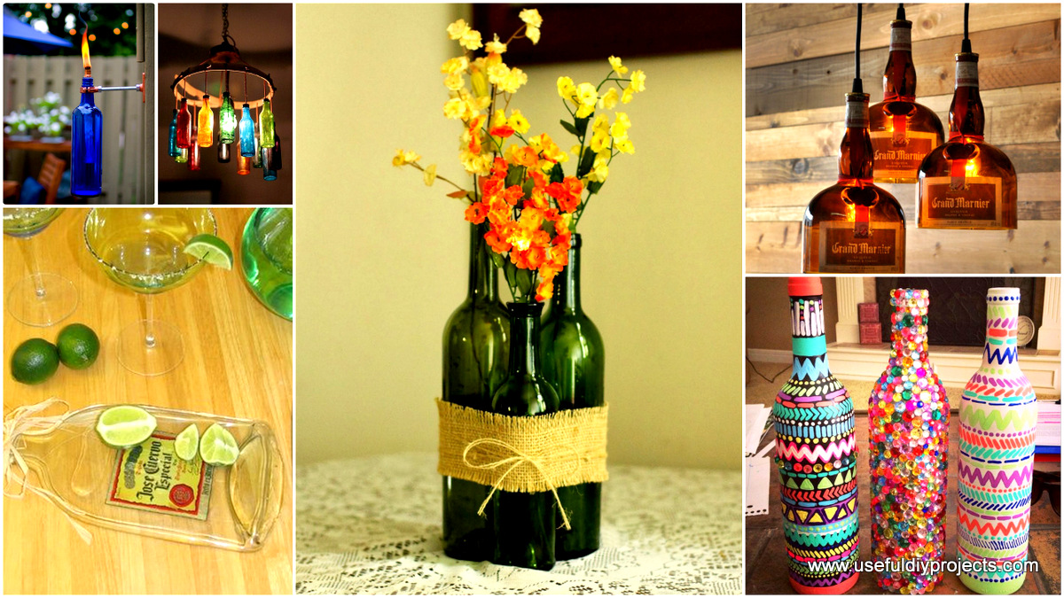 23 Fascinating Ways To Reuse Glass Bottles Into Diy