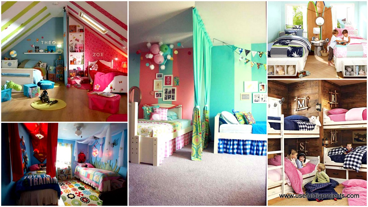 21 smart and creative girl and boy shared bedroom design ideas for Boy and girl bedroom designs