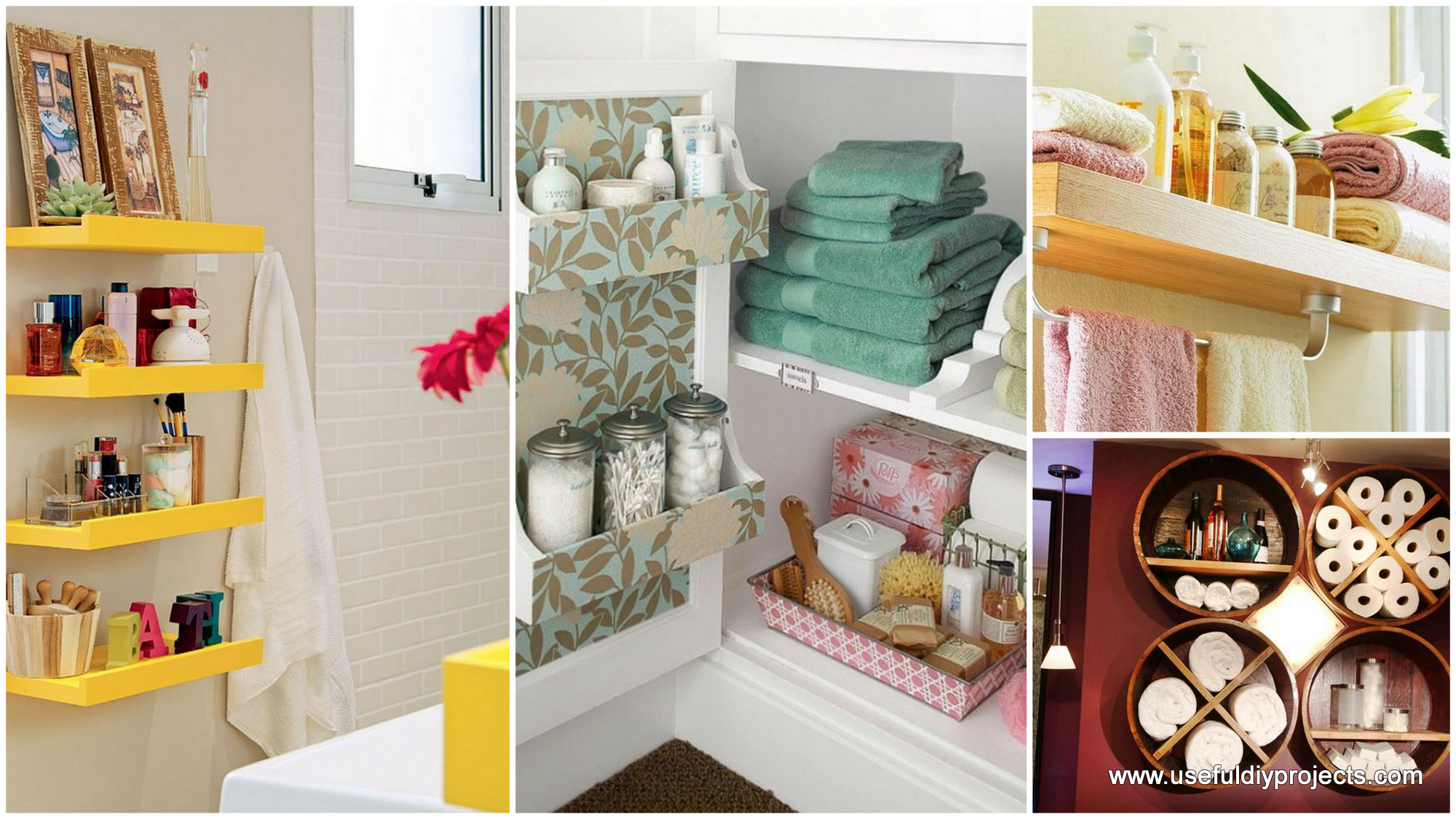 Diy bathroom storage ideas for Bathroom designs diy