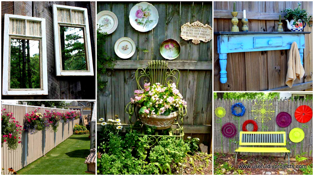Garden fence decor house decor ideas for Decorating your garden fence