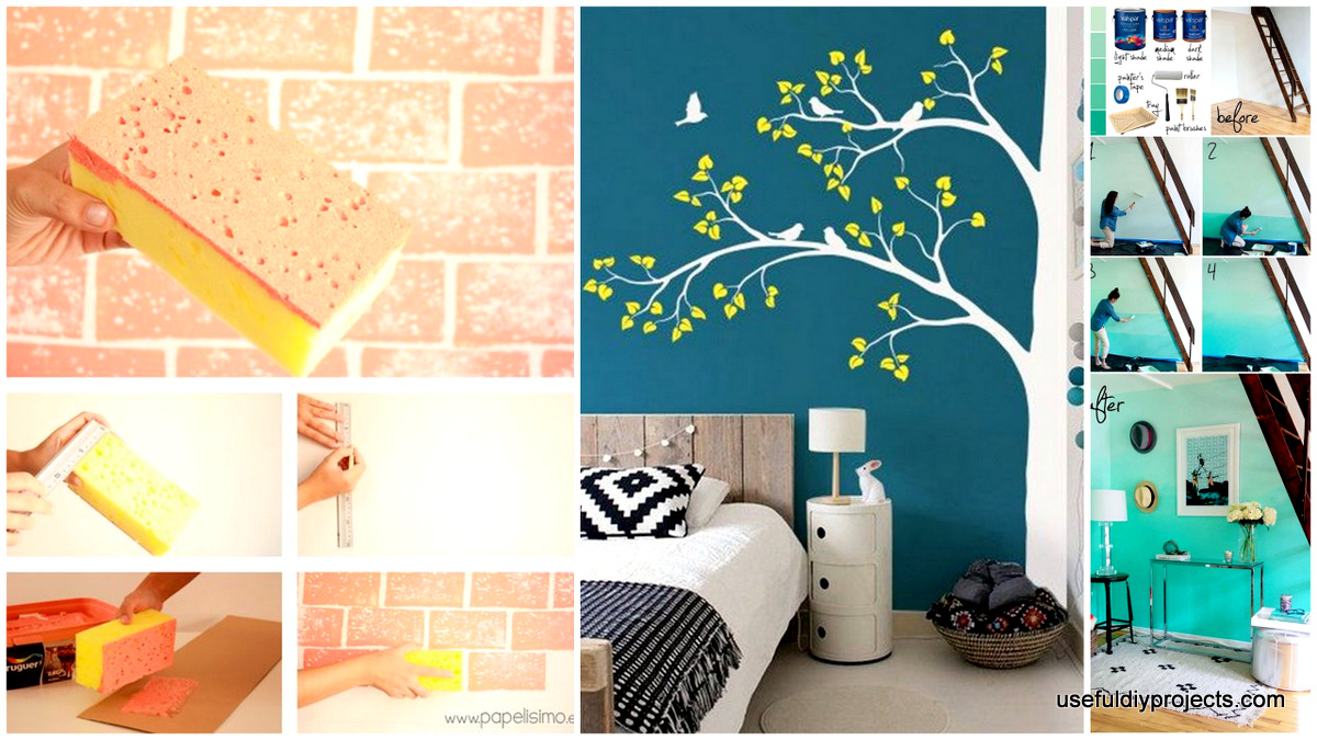 15 Epic Diy Wall Painting Ideas To Refresh Your Decor Useful Diy Projects