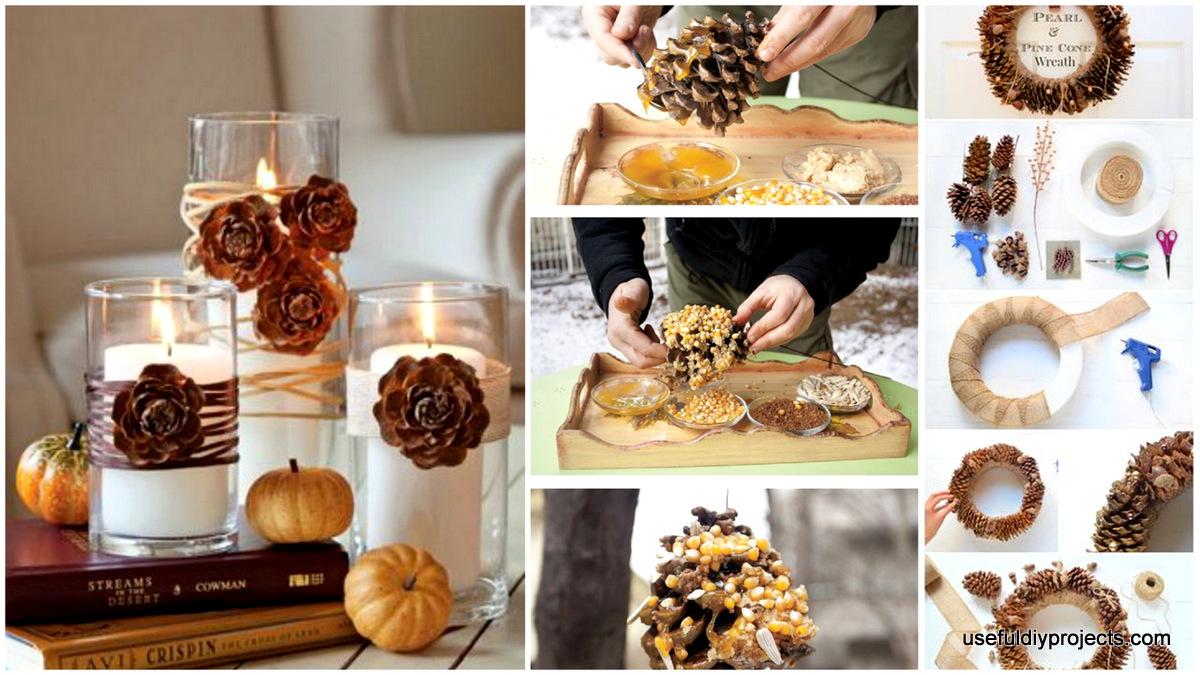 15 Fun And Easy Pine Cone Crafts To Beautify Your Home   Useful DIY Projects