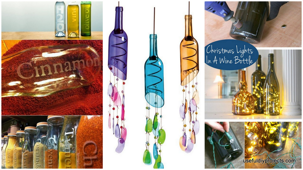 16 glass bottle crafts for home decor and gift ideas for Home decor using plastic bottles