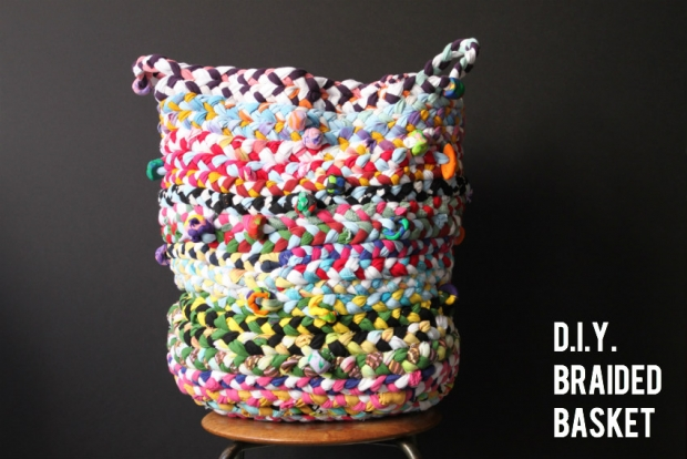 Colorful and Skillful DIY Braided Basket