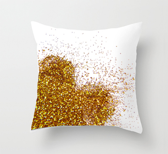 diy glitter projects white pillow