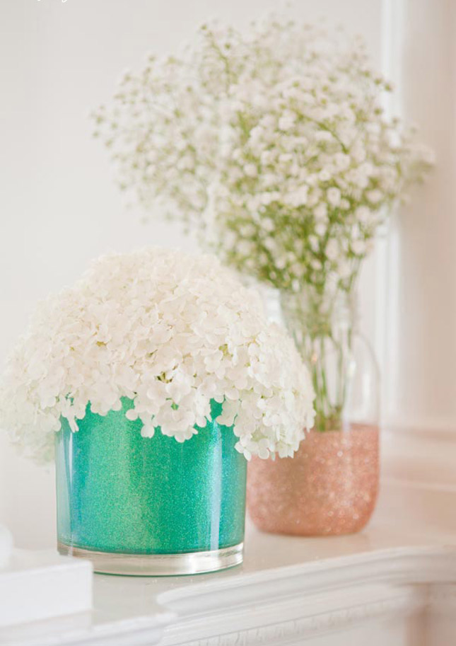 diy glitter projects mason jars