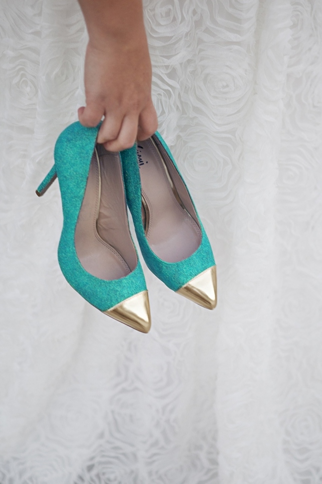 diy glitter projects turquoise shoes