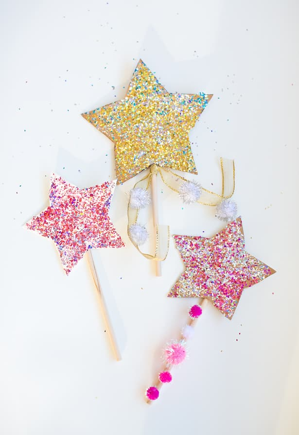 diy glitter projects magic wand