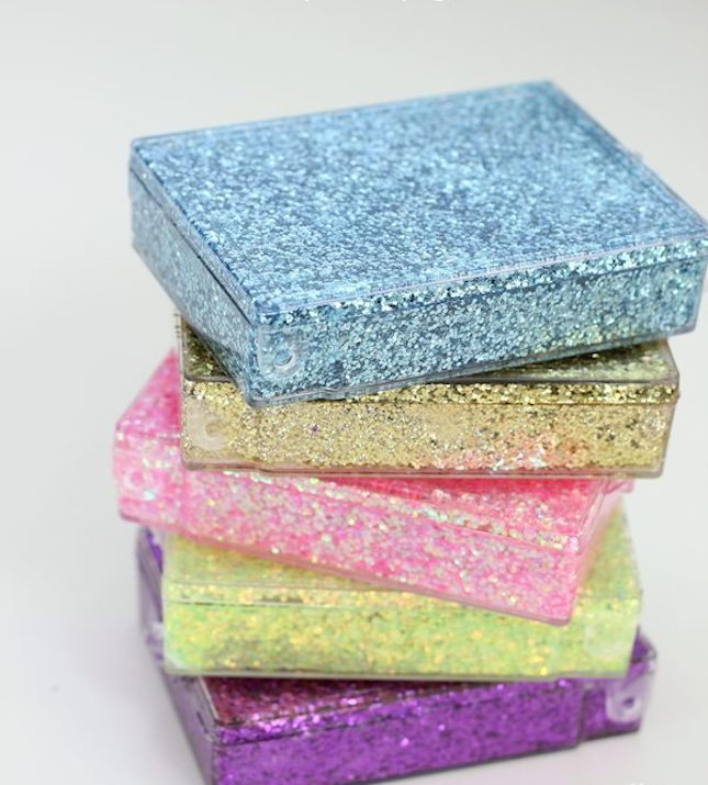 diy glitter projects colorful boxes