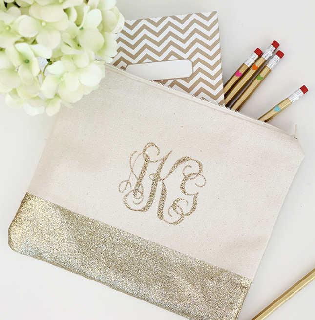 diy glitter projects pencil bag