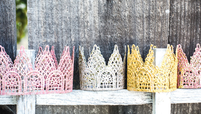 diy glitter projects little crowns