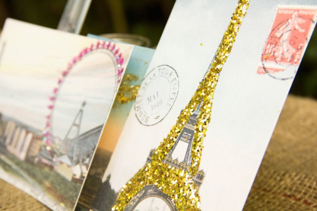 diy glitter projects postcards paris