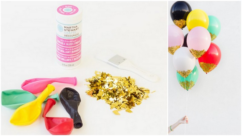 diy glitter projects sparkle ballons