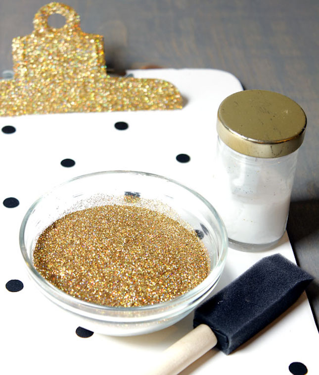 diy glitter projects clipboard