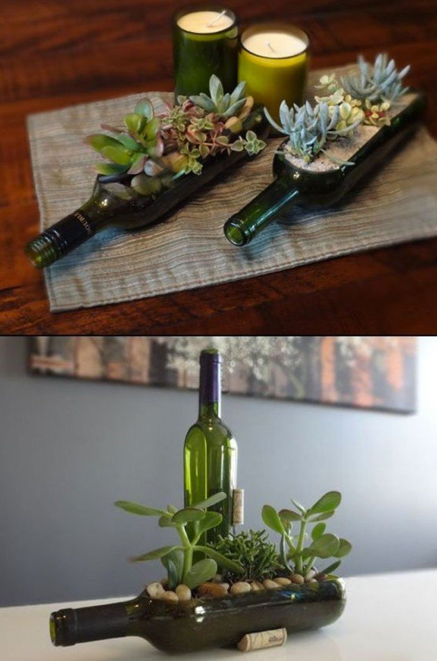 17 Fascinatingly Beautiful DIY Wine Bottle Crafts To Accessorize Your Decor usefuldiyprojects.com 15 - 17 Fascinatingly Beautiful DIY Wine Bottle Crafts To Accessorize Your Decor