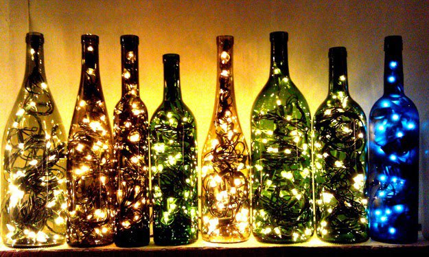 17 Fascinatingly Beautiful DIY Wine Bottle Crafts To Accessorize Your Decor usefuldiyprojects.com 6 - 17 Fascinatingly Beautiful DIY Wine Bottle Crafts To Accessorize Your Decor