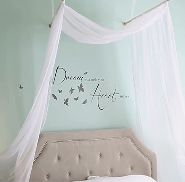 Every Bed Needs A Romantic Canopy To Make The Room Seem More Light And Elegant