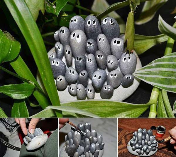 21 Lovely DIY Decor Ideas Emphasized by Creative Pebbles Art  usefuldiyprojects.com crafts (8)
