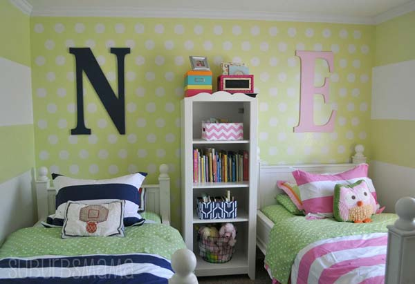 21 Smart and Creative Girl and Boy Shared Bedroom Design Ideas  usefuldiyprojects.com design ideas (13)