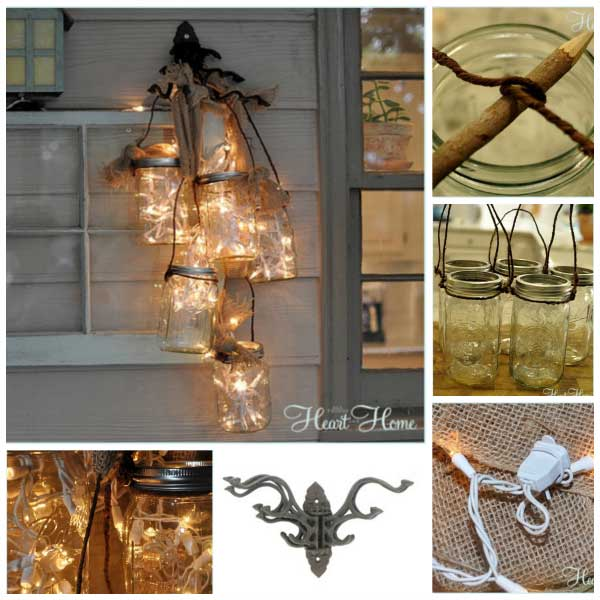 27 Magnificent and Splendid Suspended Mason Jars DIY