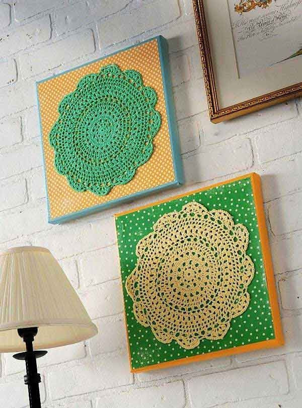 lace doily art
