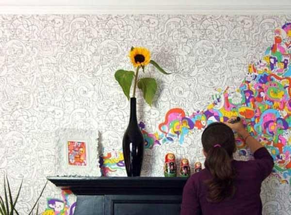 doodle art wall art