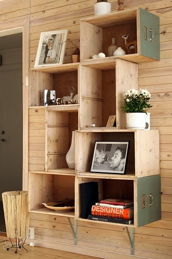 29 Ways to Decorate With Wooden Crates usefuldiyprojects.com decor ideas 17 - 29 Ways To Be Sustainable by Decorating With Wooden Crates