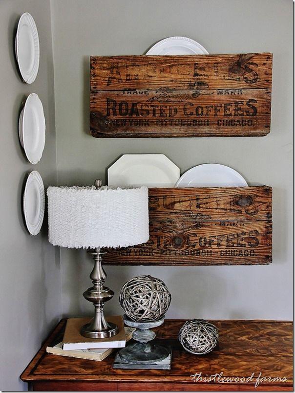 29 Ways to Decorate With Wooden Crates usefuldiyprojects.com decor ideas 5 - 29 Ways To Be Sustainable by Decorating With Wooden Crates