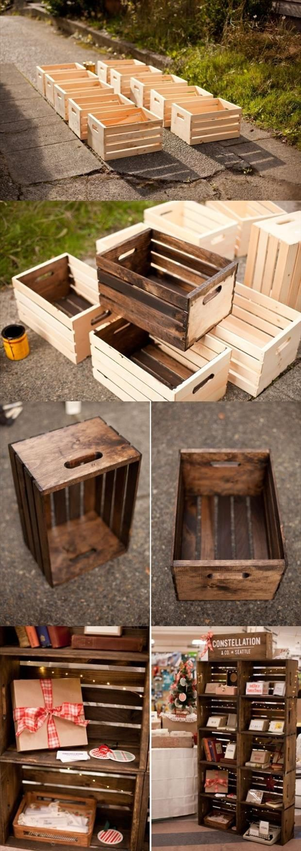 29 Ways to Decorate With Wooden Crates usefuldiyprojects.com decor ideas 8 - 29 Ways To Be Sustainable by Decorating With Wooden Crates