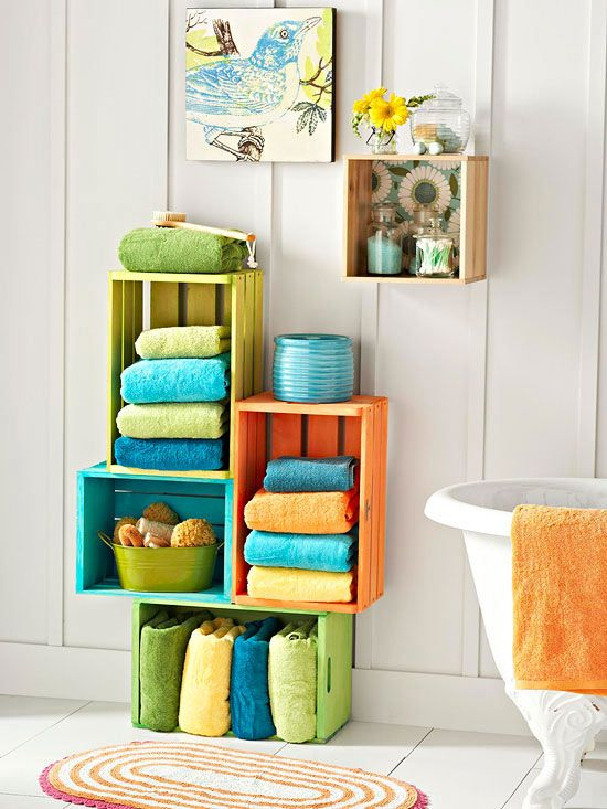 29 Ways to Decorate With Wooden Crates usefuldiyprojects.com decor ideas 9 - 29 Ways To Be Sustainable by Decorating With Wooden Crates