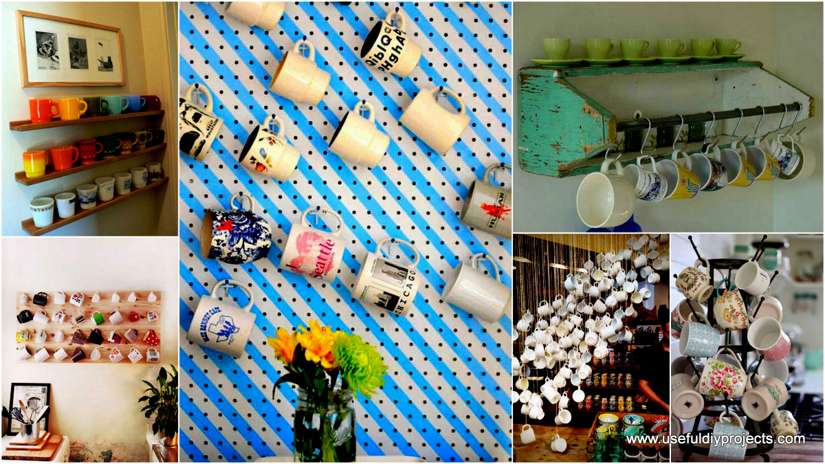 30 Extraordinary Creative And Graphic Diy Mug Storage To Beautify Your Kitchen
