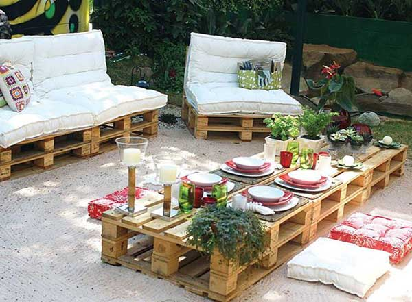 Pallet Setup is Ready to Entertain your Guests