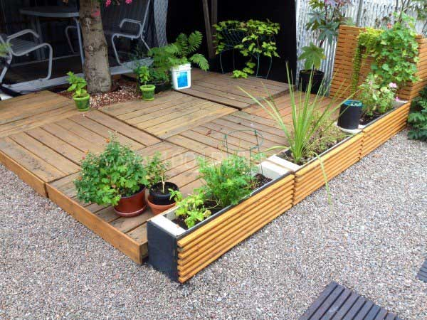 Wooden Planters Realized from Wooden Pallets