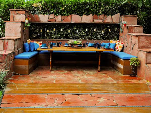 sitting area into your garden