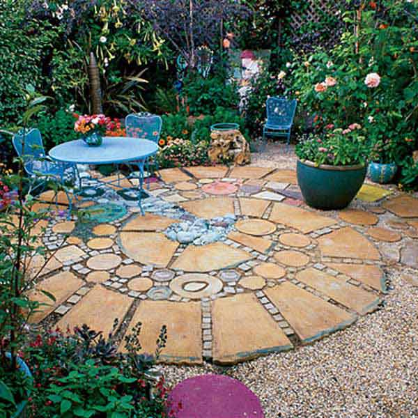 Geometric flooring for Patio