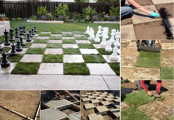 garden chessboard for your patio