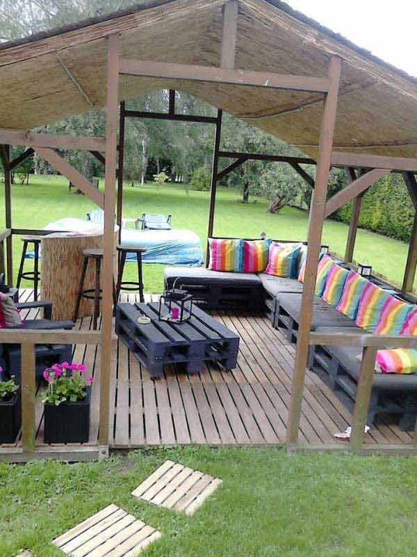 Cool pallet patio upgrade