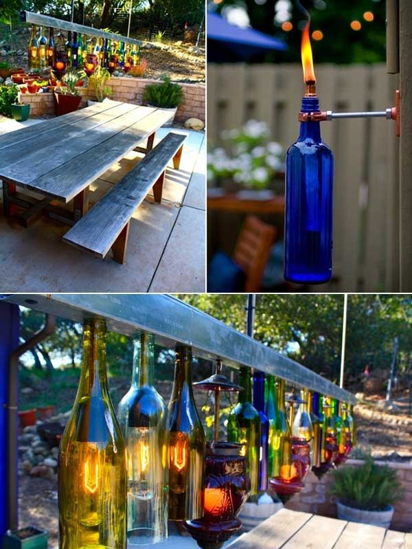 Wine Bottle Torches