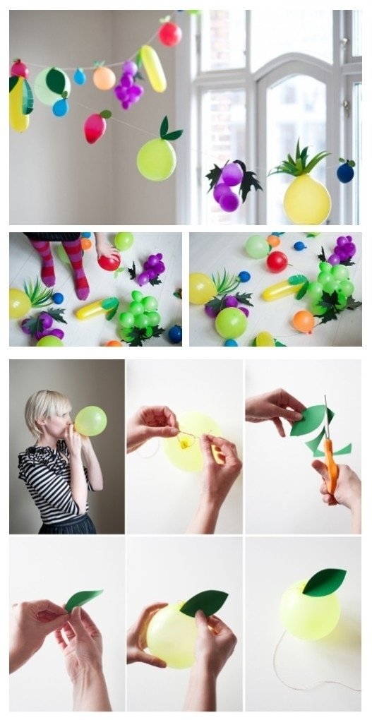 balloon fruit themed party