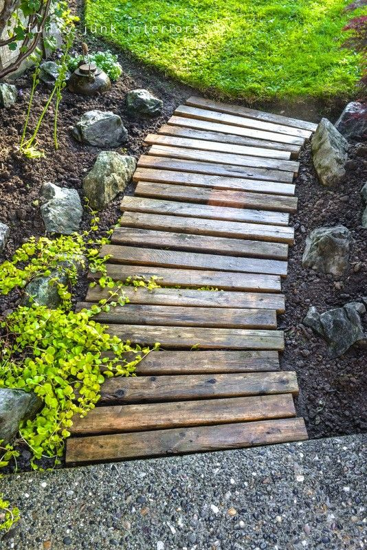 recycled wood path