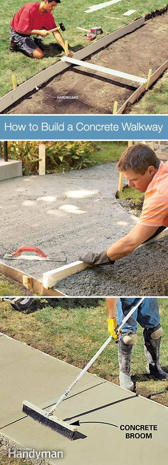 how to build a concrete walkway