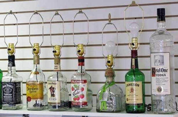 Bottle Lamps Ideas 18 - Get Creative With Wonderful DIY Bottle Lamps Ideas And Projects