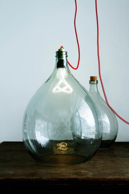 Bottle Lamps Ideas 29 - Get Creative With Wonderful DIY Bottle Lamps Ideas And Projects