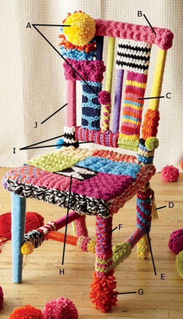Transform Your Furniture With Knitted Furniture Crafts-usefuldiyprojects (45)