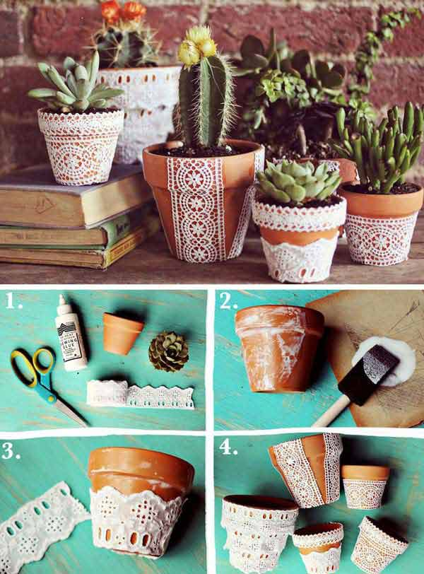 22 Mesmerizing Homemade DIY Lace Crafts To Beautify Your Home usefuldiyprojects.com (3)