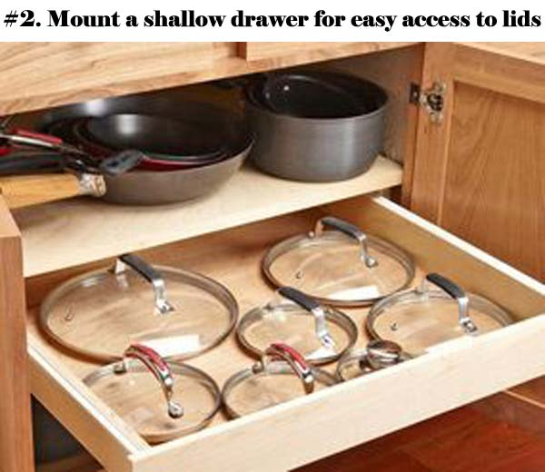 12 Insanely Smart Ways to Organize Your Pot Lids (2)