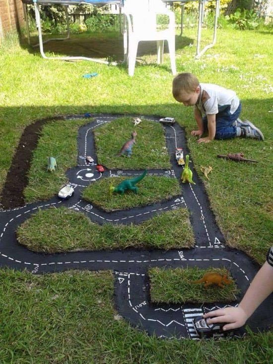 10+ Fun backyard transformation ideas on a budget for Kids Playground (9)