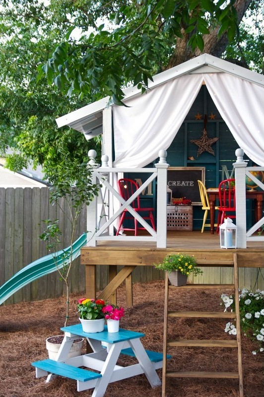 10+ Fun backyard transformation ideas on a budget for Kids Playground (13)