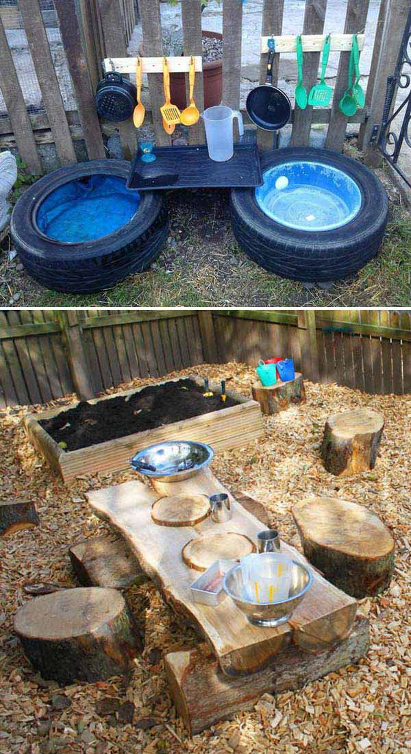 10+ Fun backyard transformation ideas on a budget for Kids Playground 1